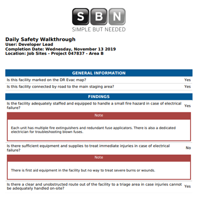 Daily Safety Walkthrough Reporting Efficiently