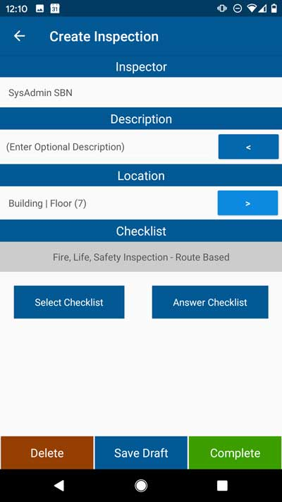 Capture all the fire inspection data you need with the SBN software platform.