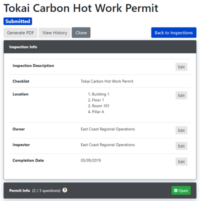 Customize your checklists for hot work permitting