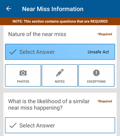File Near Miss cases in the field, on mobile or from your computer