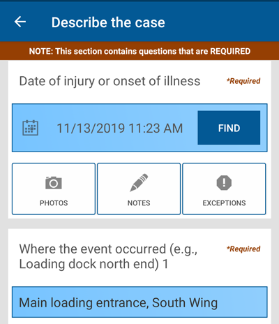 File OSHA 300 cases in the field, on mobile or from your computer