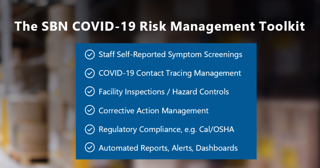 SBN offers a COVID-19 Risk Management Toolkit